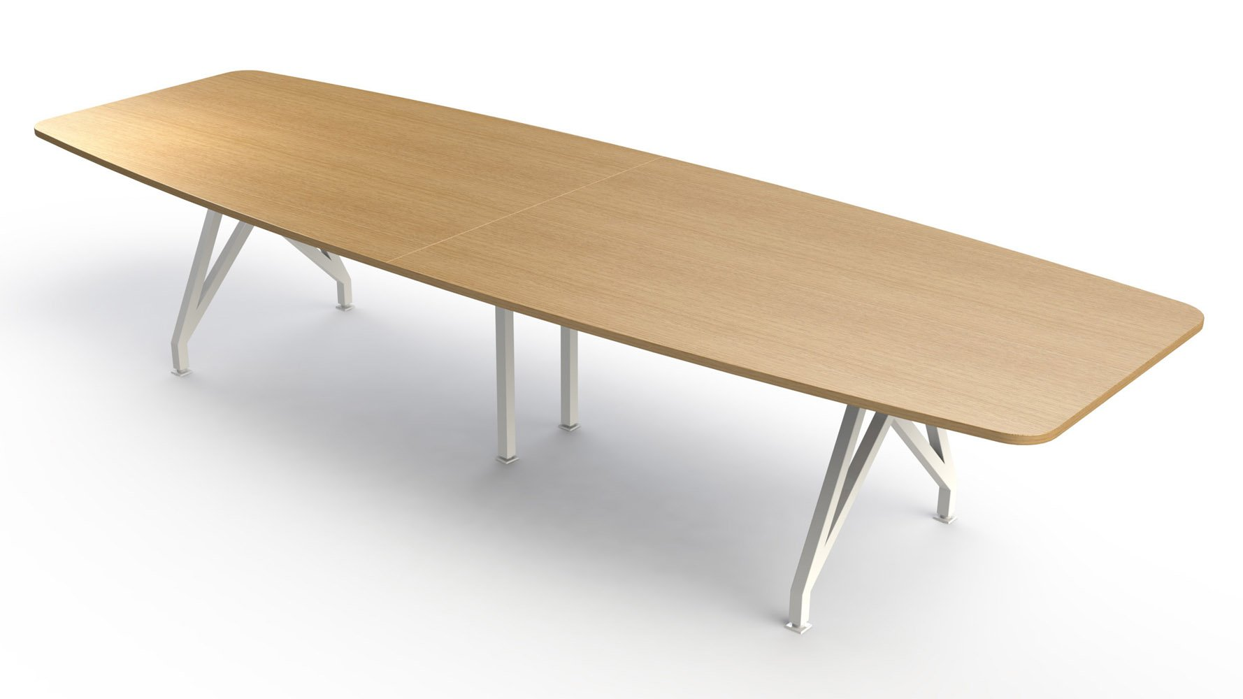 KAYAK Conference Table Zuri Furniture - 12 foot boat shaped conference table