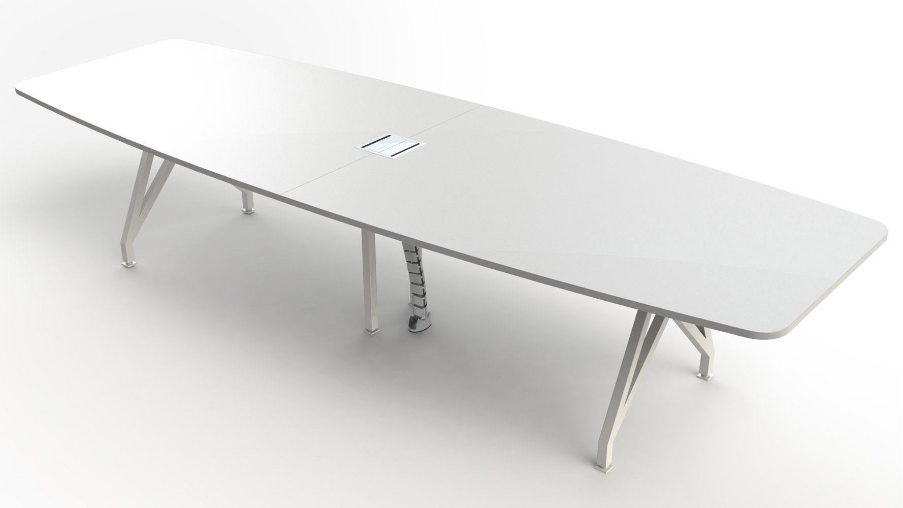 KAYAK Conference Table Zuri Furniture - White oval conference table