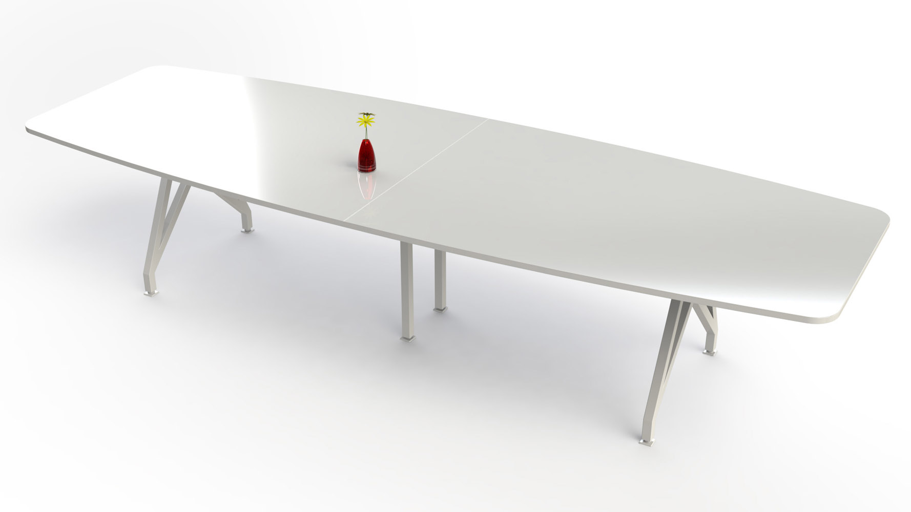 KAYAK Conference Table Zuri Furniture - Large white conference table