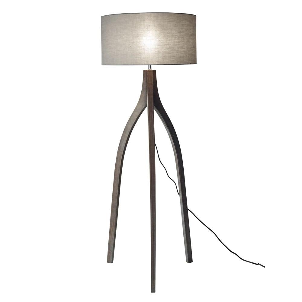 Modern Sherwood Floor Lamp Pine Wood With Rustic Wash