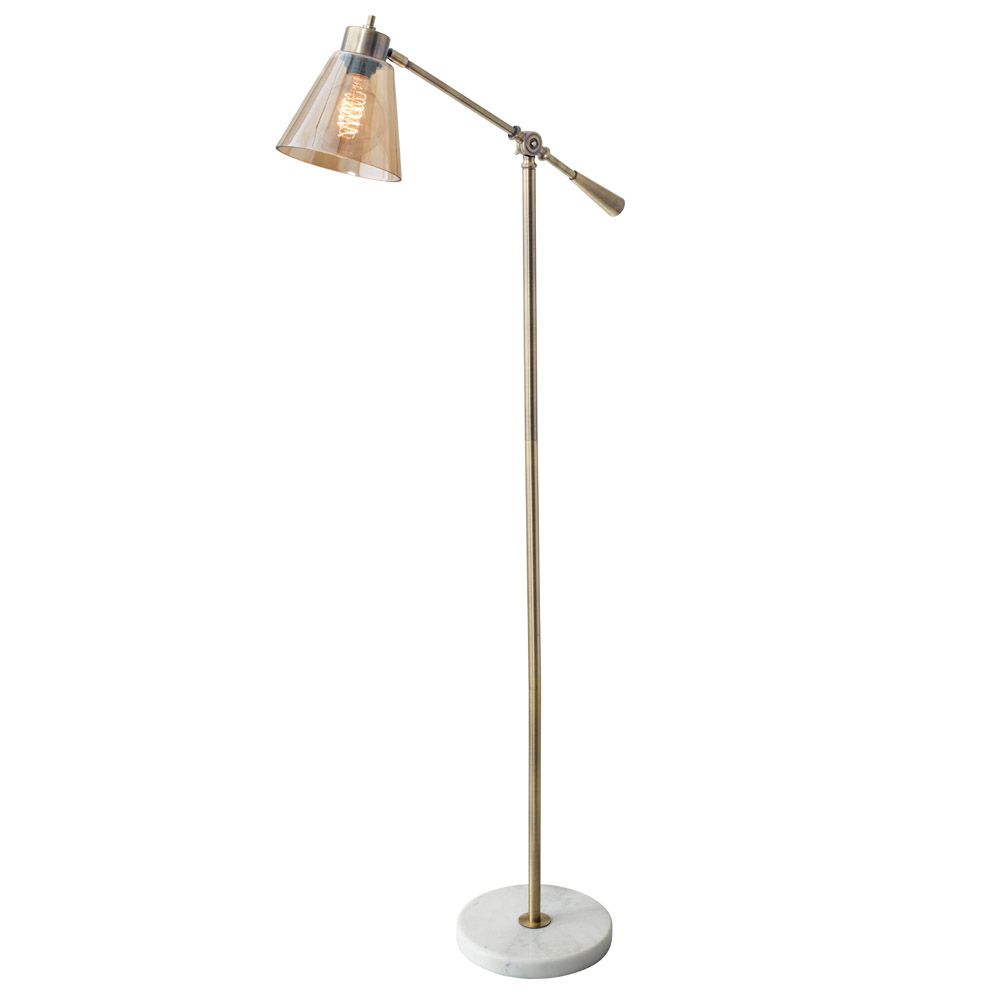Modern Sienna Floor Lamp Antique Brass Zuri Furniture