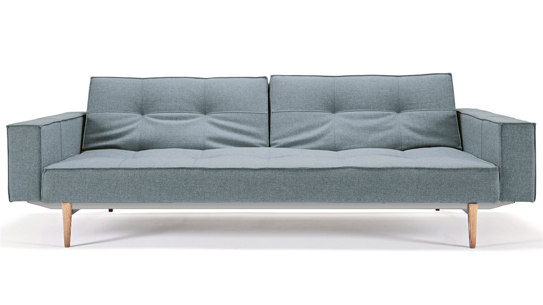 Marvelous photograph of  LIVING / Sleepers / Sofi Split Back Sofabed with Armrests Wood Base with #756456 color and 1778x1000 pixels