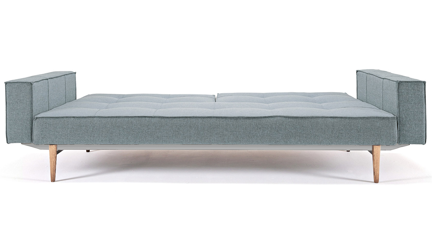 Marvelous photograph of  LIVING / Sleepers / Sofi Split Back Sofabed with Armrests Wood Base with #835C48 color and 1778x1000 pixels