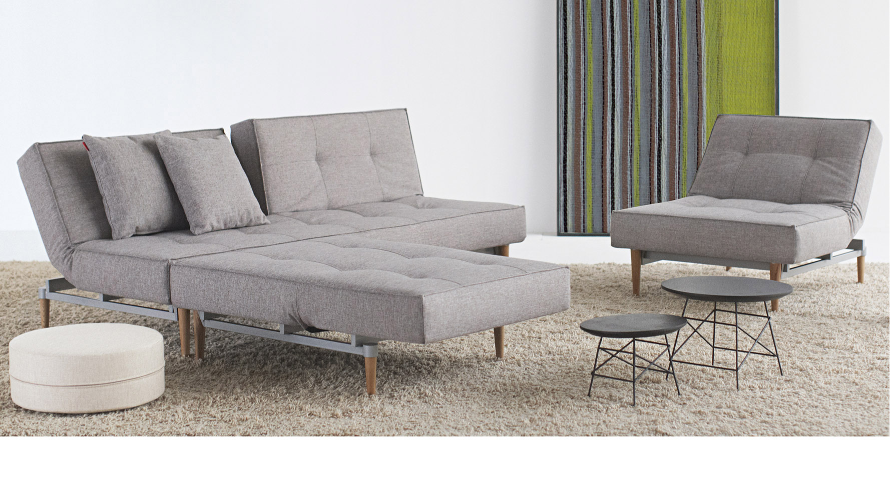 Marvelous photograph of Home / LIVING / Sleepers / Sofi Split Back Sofabed Wood Base with #7C7D44 color and 1778x1000 pixels