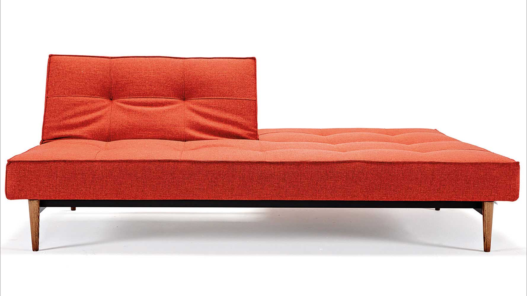 Wonderful image of Home / LIVING / Sleepers / Sofi Split Back Sofabed Wood Base with #B1351A color and 1778x1000 pixels