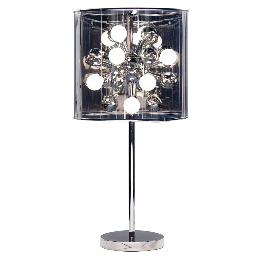 Modern Starburst Table Lamp Chrome Zuri Furniture