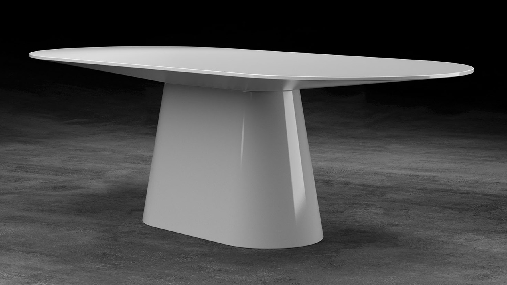 Lenora Dining Table Zuri Furniture - White lacquer dining table