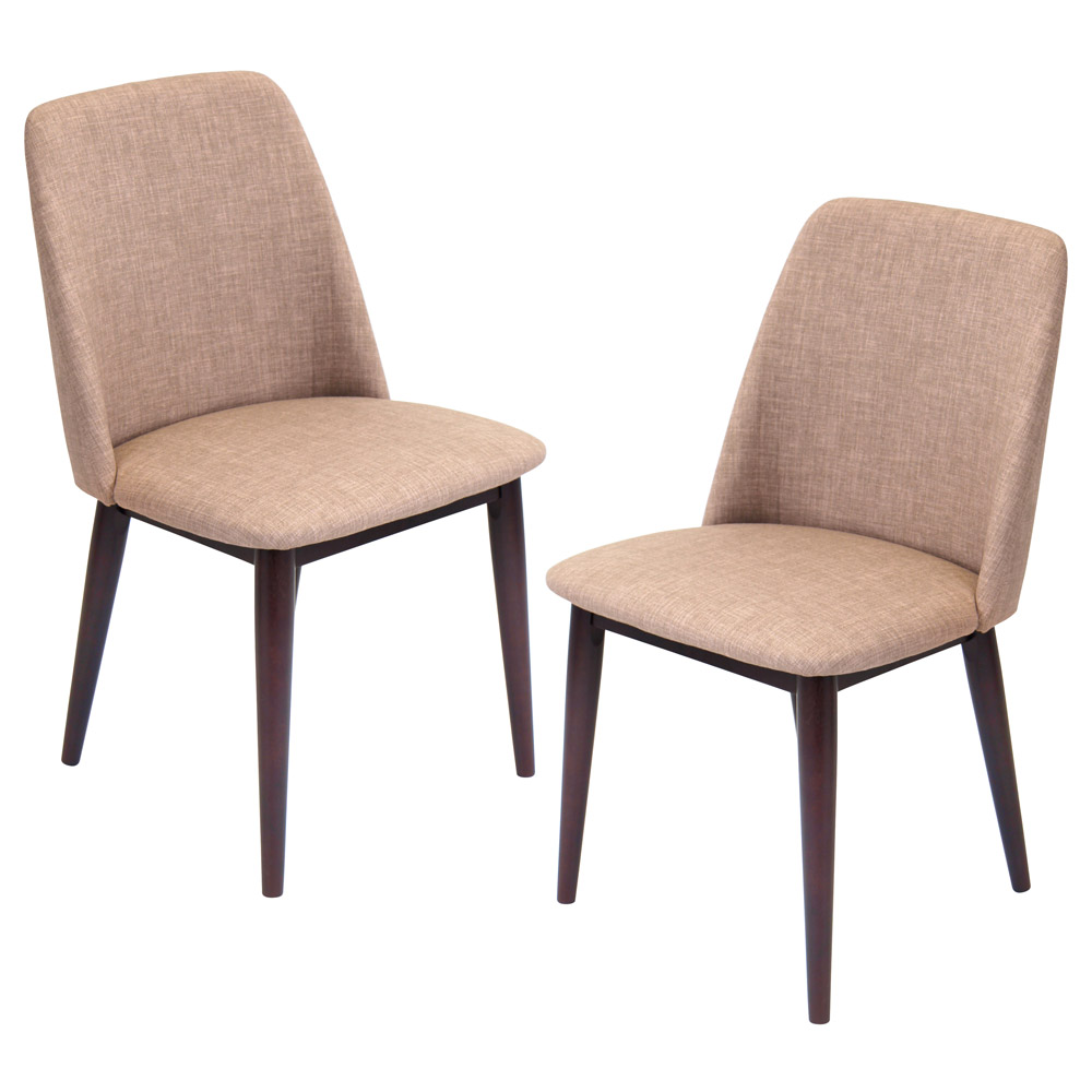 Tage dining chair set of 2 zuri furniture for Contemporary seating chairs