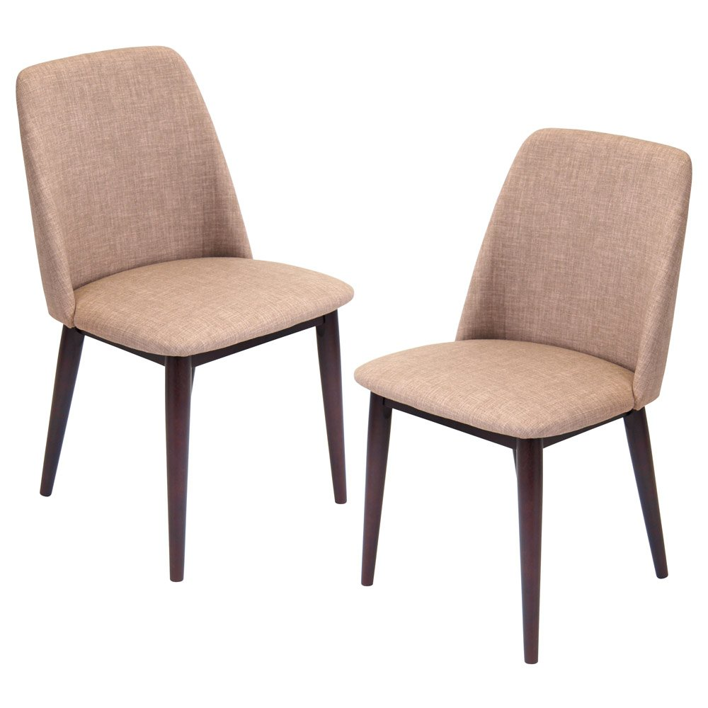 Tage dining chair set of 2 zuri furniture for Contemporary designer dining chairs