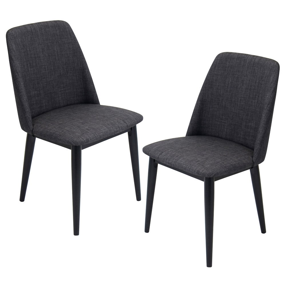 Tage dining chair set of 2 zuri furniture for Modern black dining chairs