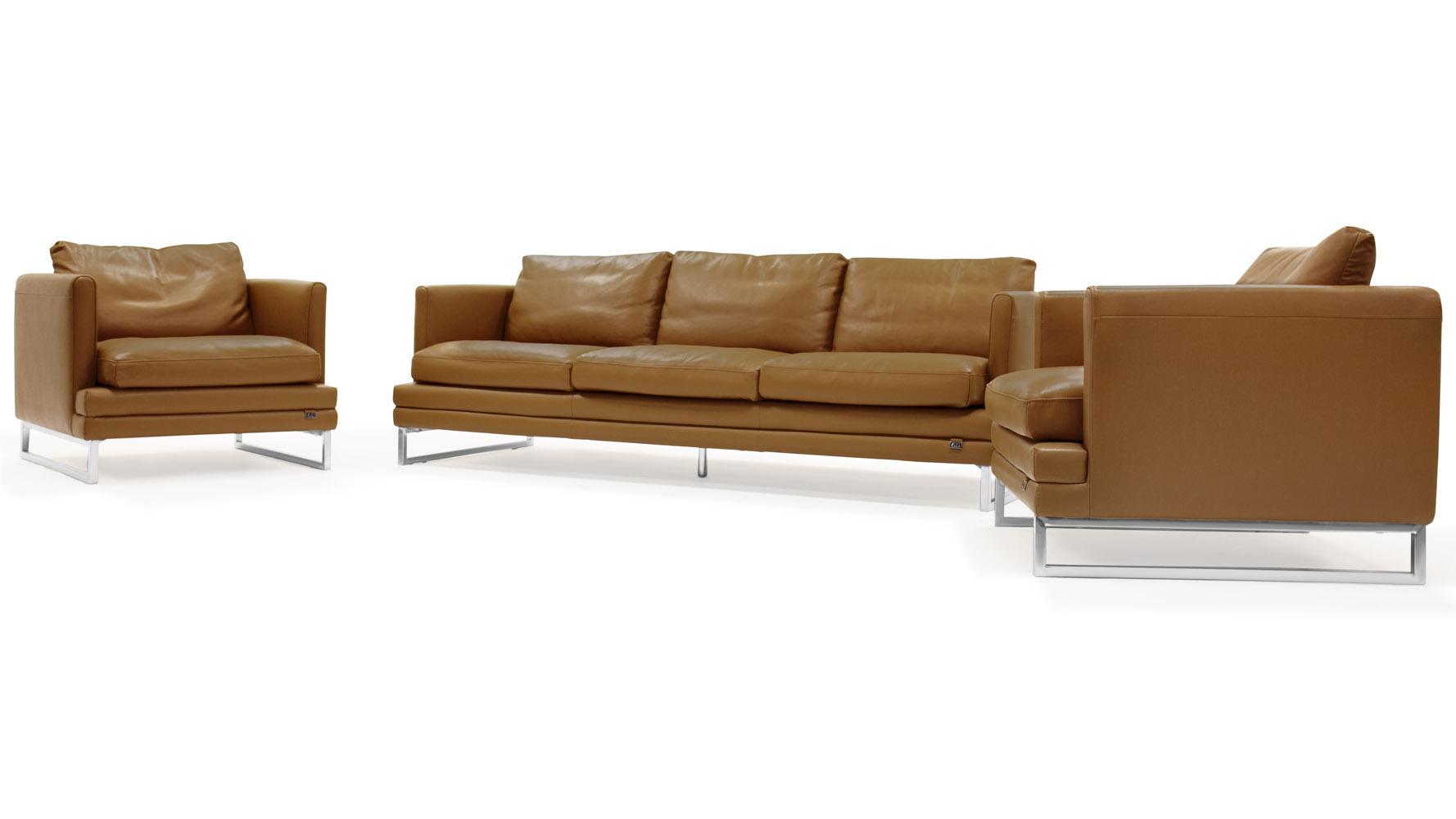 Brando Sofa Set with 2 Armchairs | Zuri Furniture