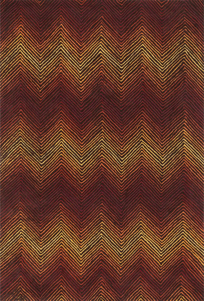 Vector Brown and Spice Rug