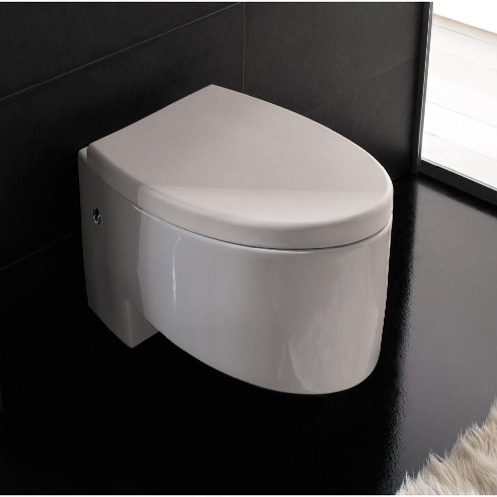 Modern Wall Mounted White Ceramic Zefiro Toilet Zuri