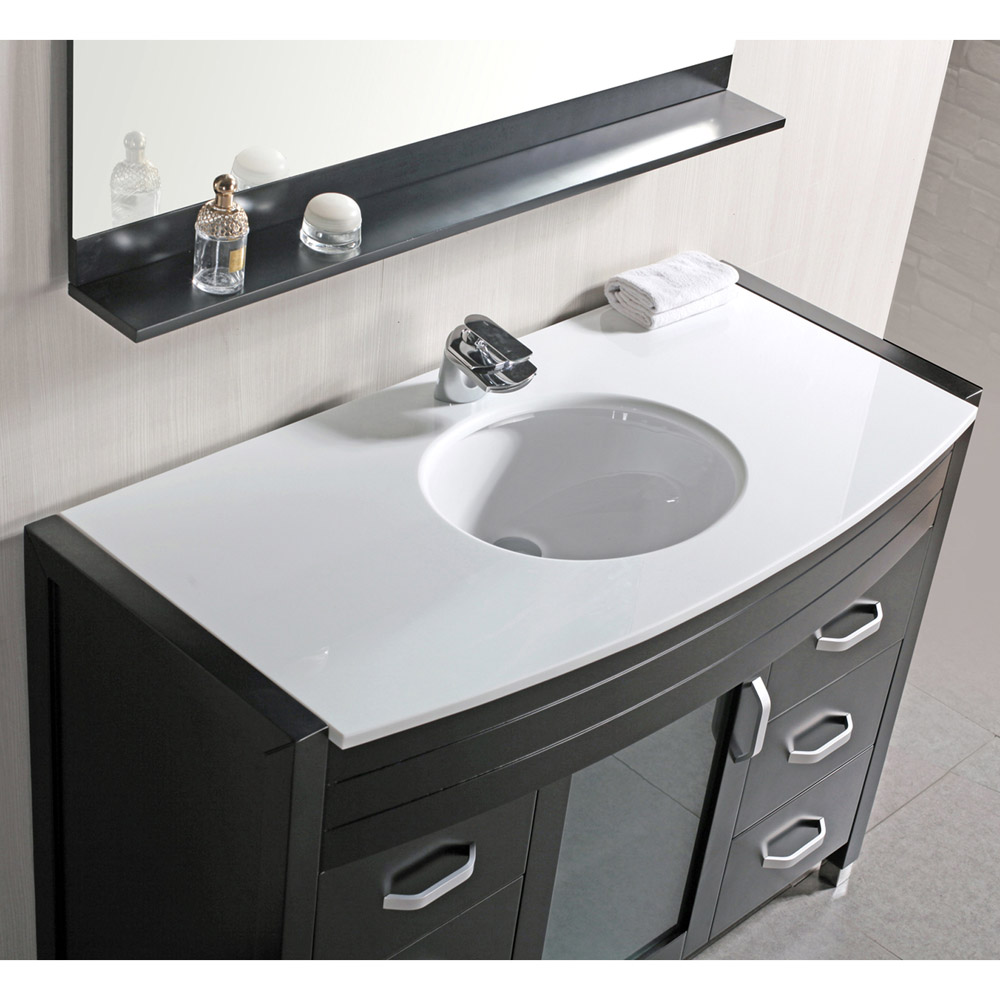Walton 48 Quot Single Sink White Stone Vanity Set Zuri Furniture