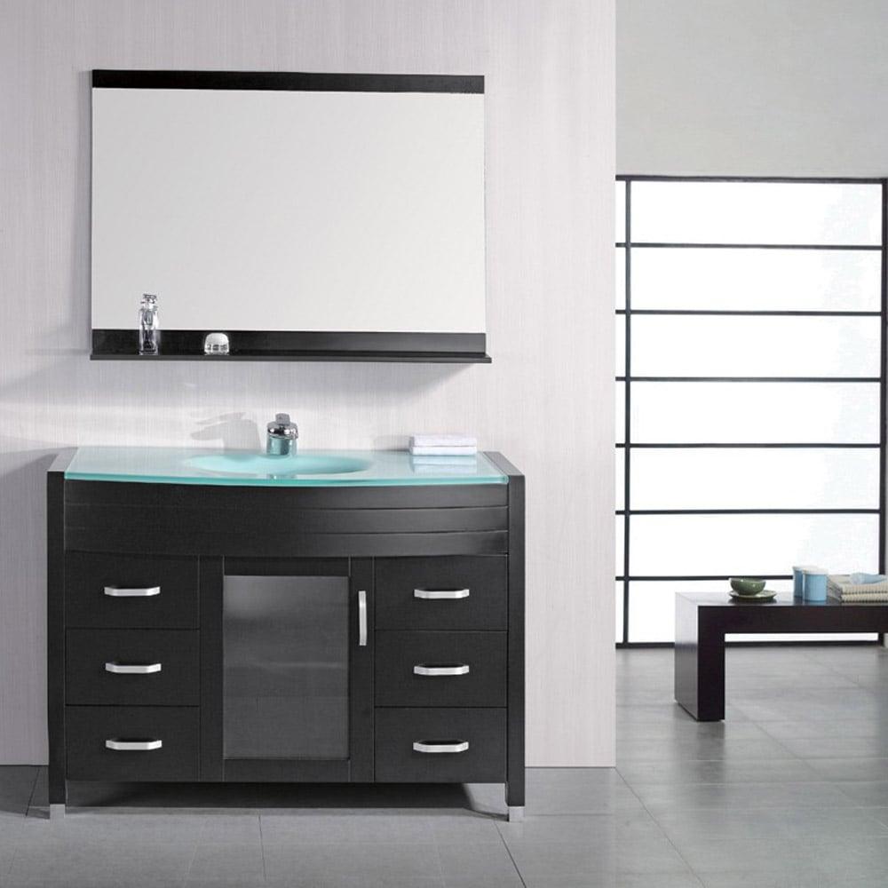 Walton 48 Single Sink Glass Vanity Set