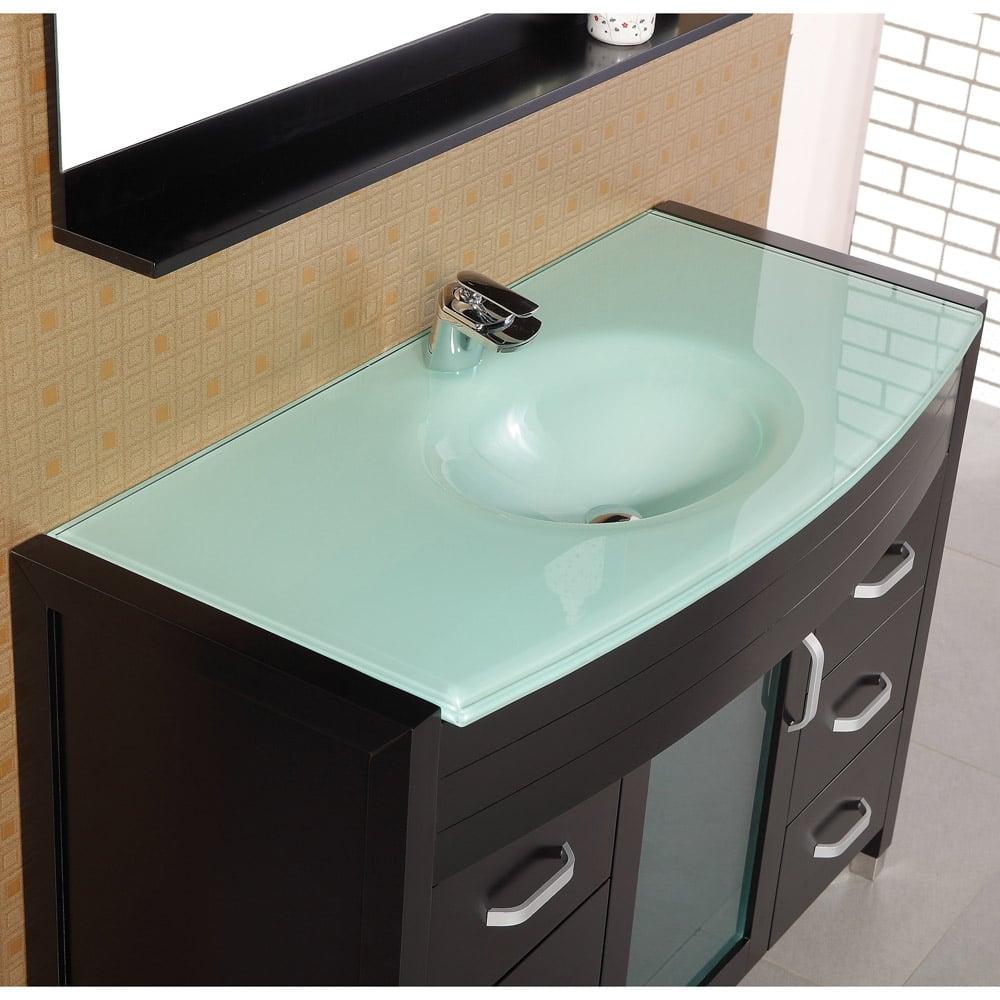 Walton 48 Single Sink Glass Vanity Set Zuri Furniture