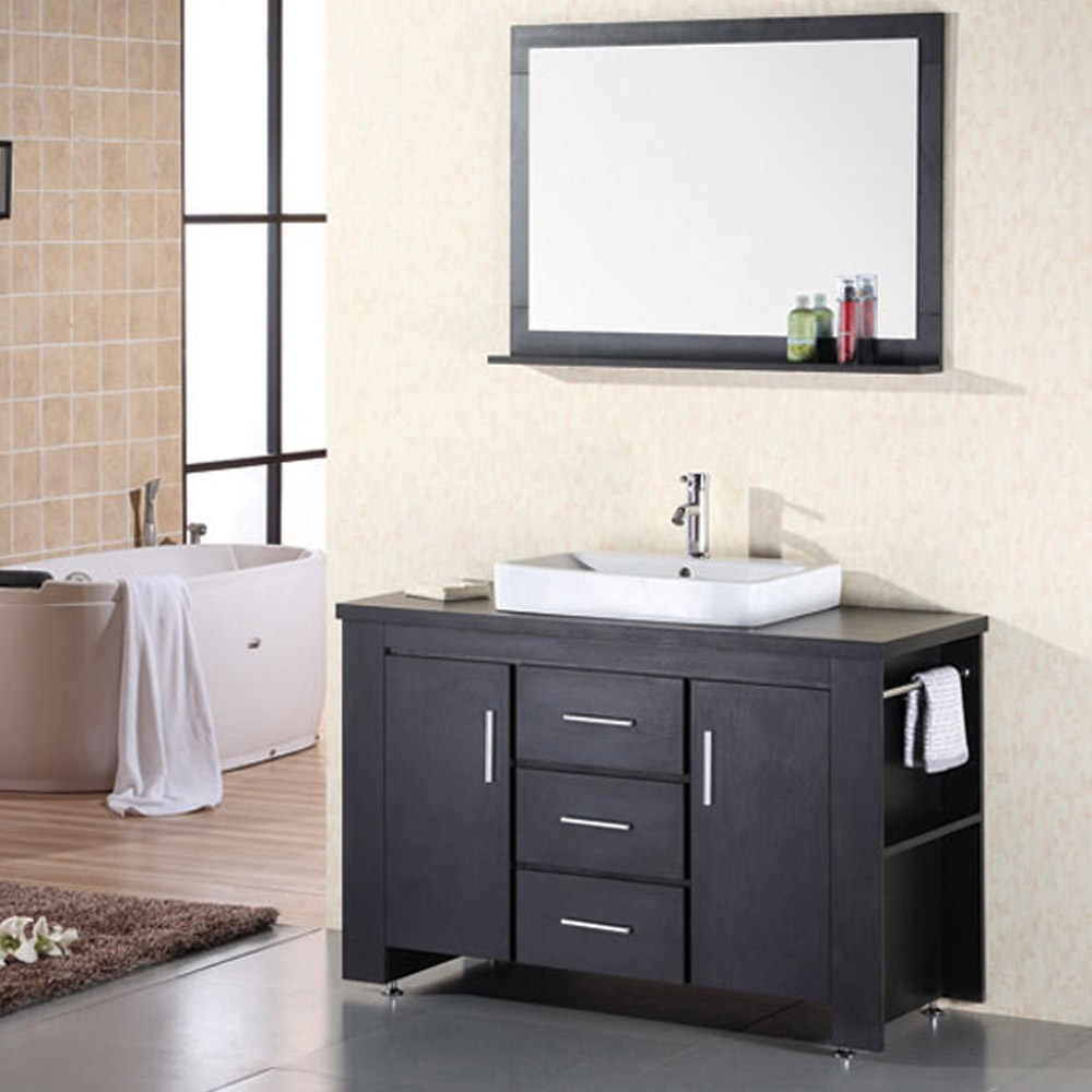 Large Single Sink Vanity : Home / BATH / Bathroom Vanities / Weston 48