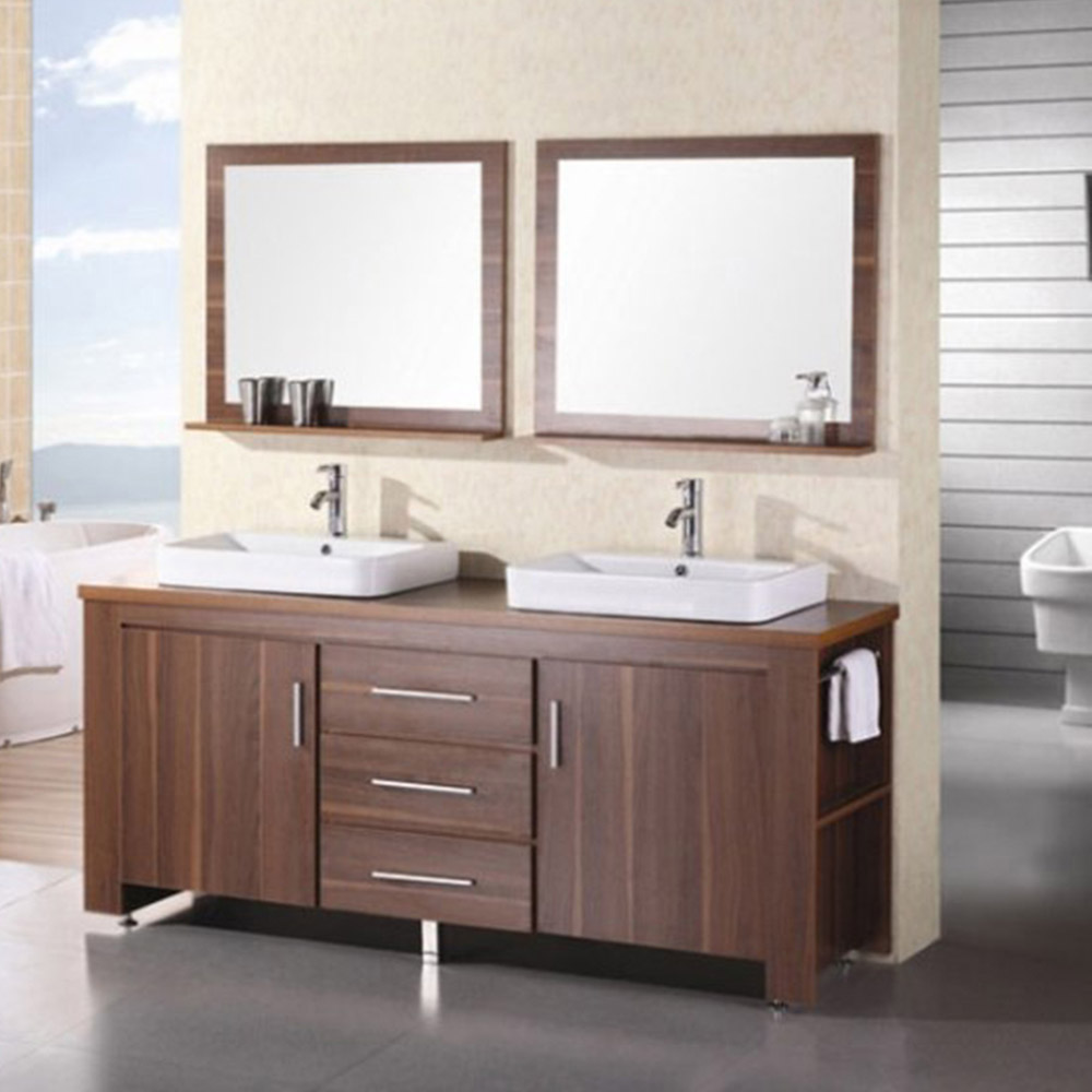 Weston 72 double sink vanity set zuri furniture for Bathroom 72 double vanity
