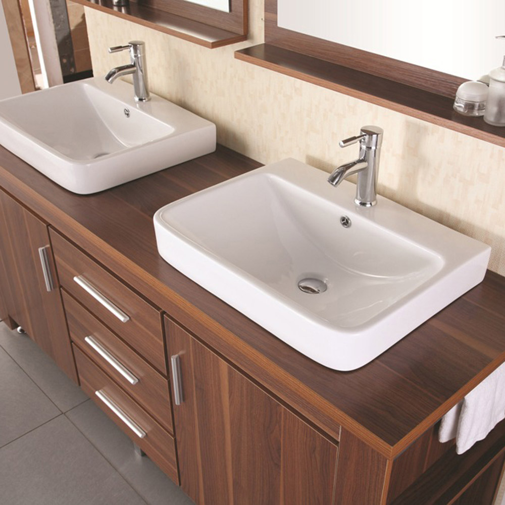 2 sink bathroom weston 72 quot sink vanity set zuri furniture 10027 | modern weston 72 double sink bathroom vanity set toffee 2