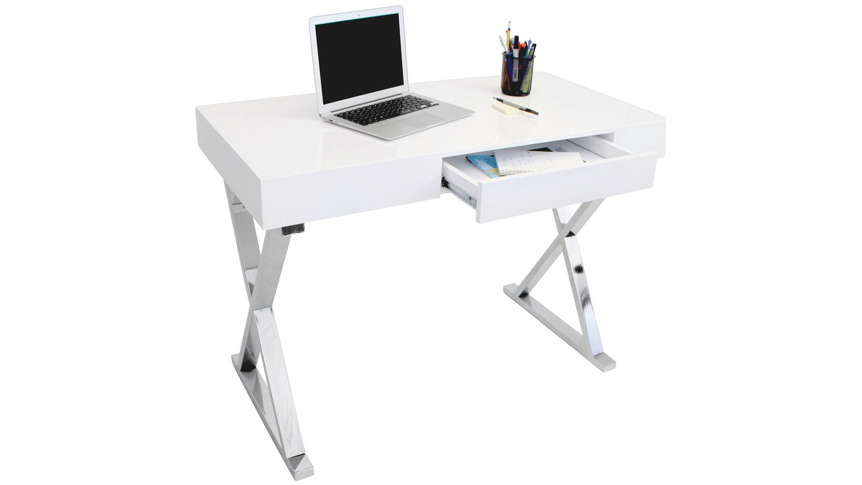 chrome office desk. Equis 43 Inch Desk Chrome Office