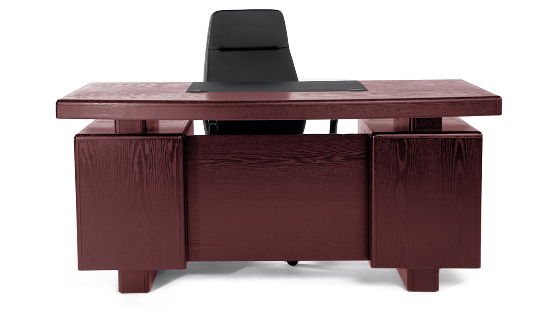 Mahogany Wood Desk ~ Monroe mahogany wood modern desk with leather pad and