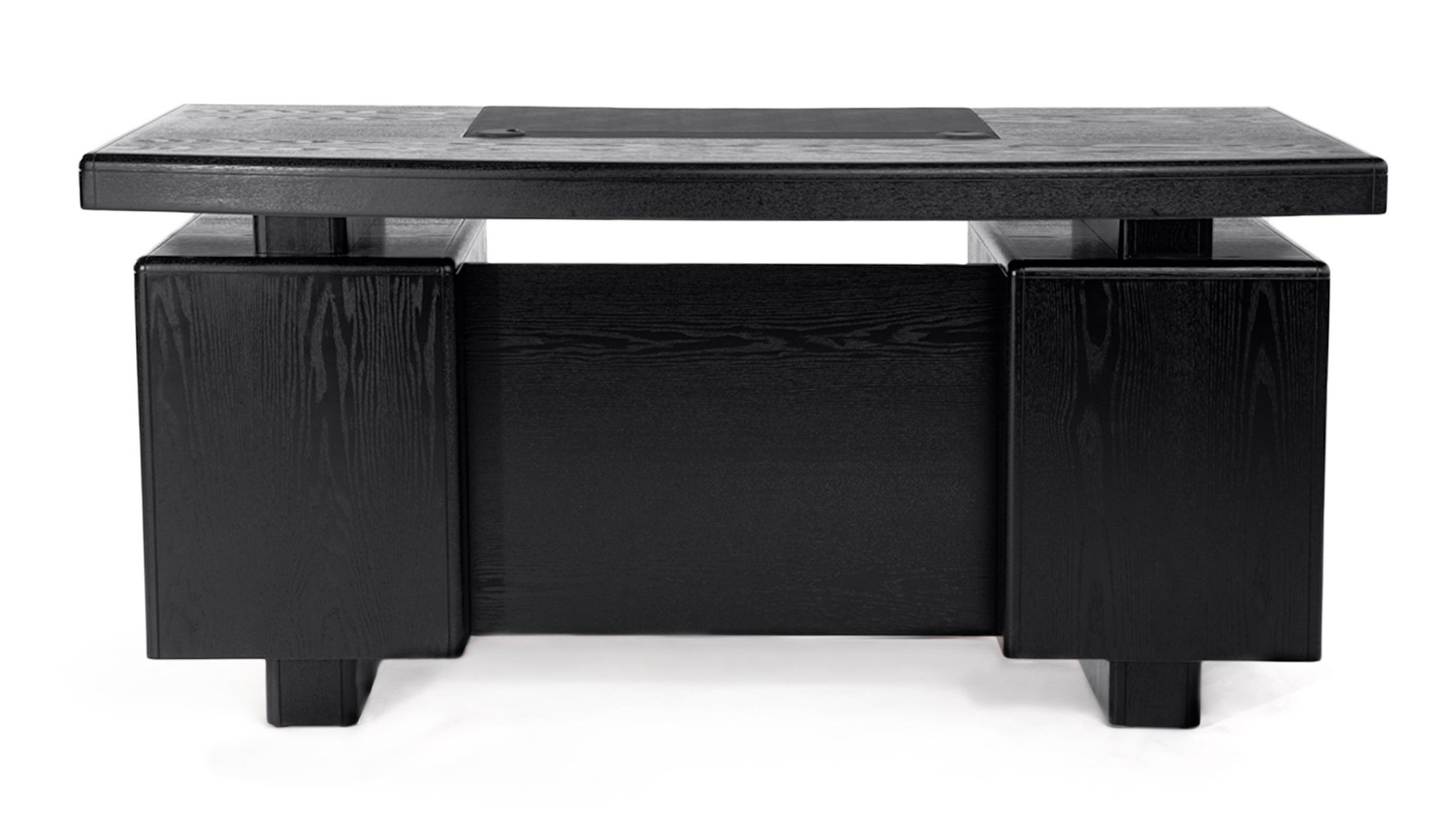 Monroe Black Wood Executive Desk | Modern & Contemporary ...