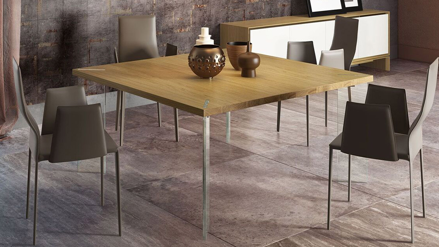Montriond Glass Dining Table Zuri Furniture