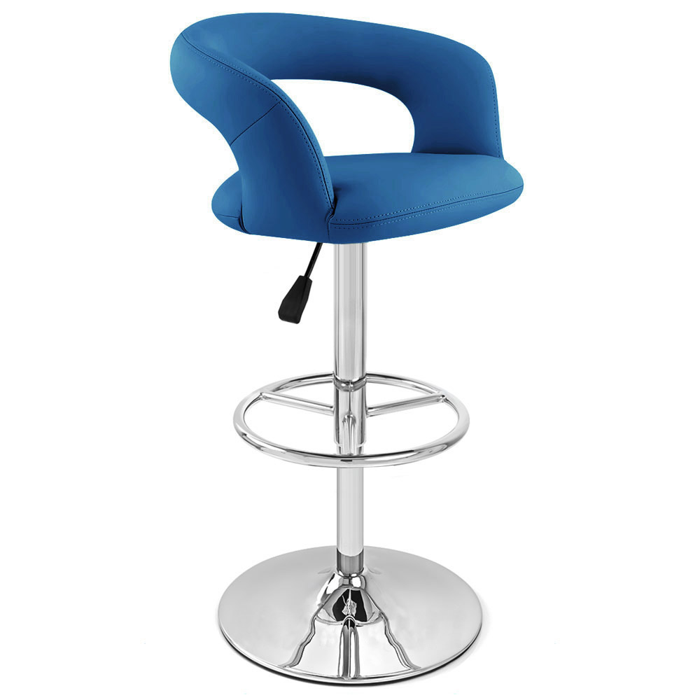 Monza Adjustable Height Swivel Armless Bar Stool Zuri