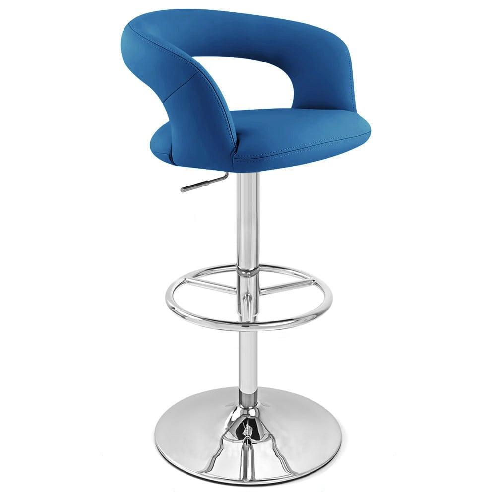 Monza Adjustable Height Swivel Armless Bar Stool Zuri Furniture