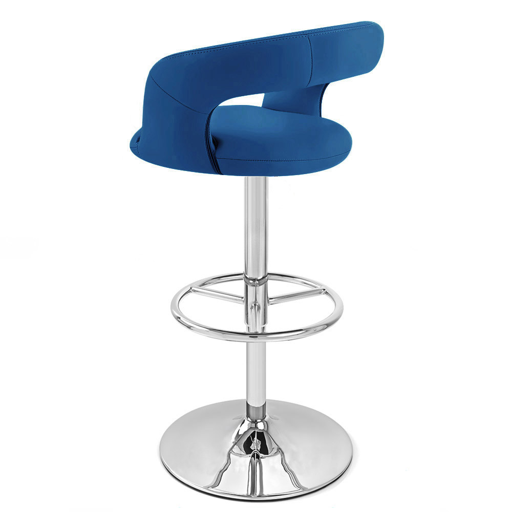 Monza Dark Blue Bar Stool - Delete  sc 1 st  Zuri Furniture & Monza Adjustable Height Swivel Armless Bar Stool | Zuri Furniture islam-shia.org