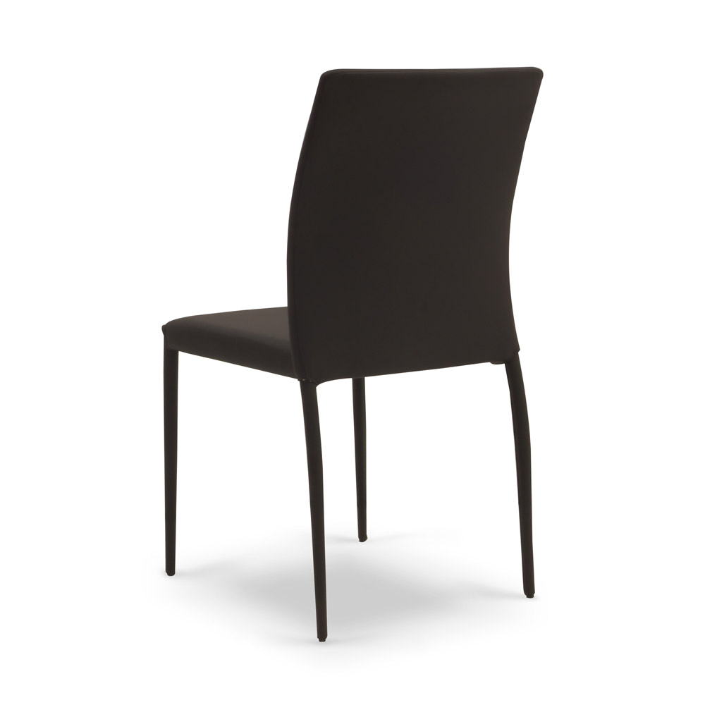 Metal Frame Dining Chairs mora modern leatherette dining chair with metal frame | zuri furniture