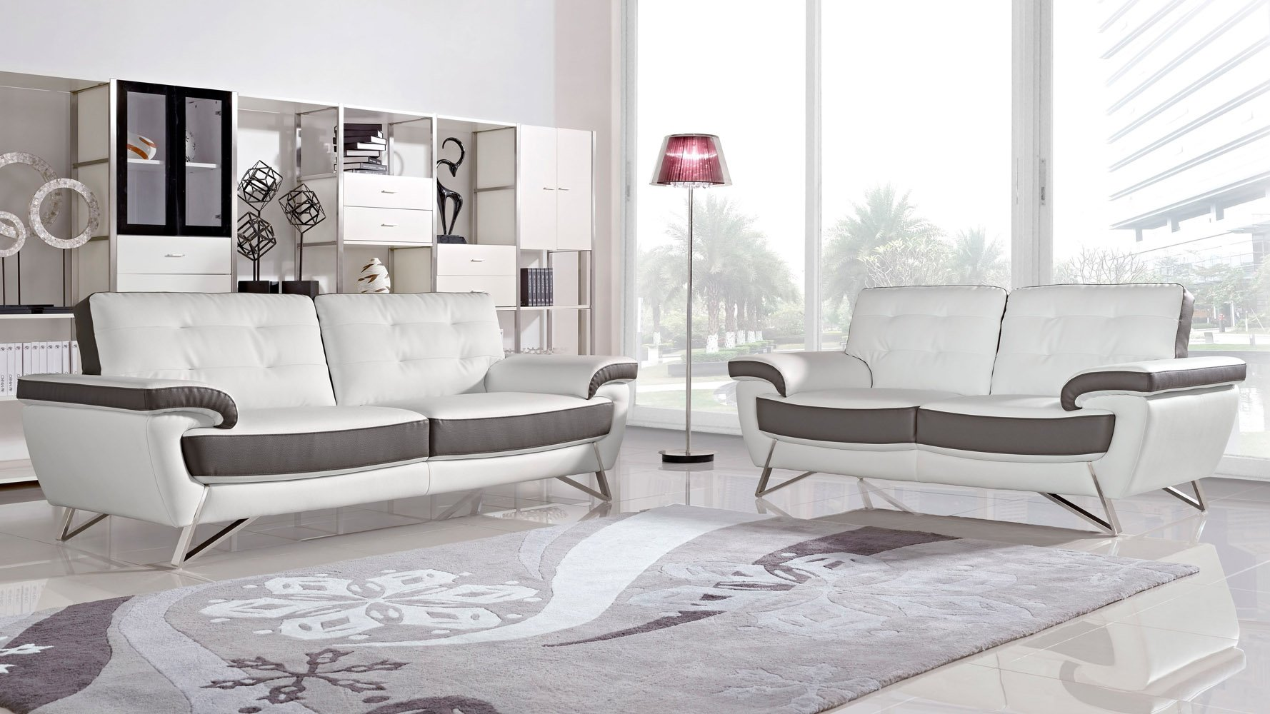 Modern Leather Sofas : Contemporary Living Room Furniture | Zuri ...