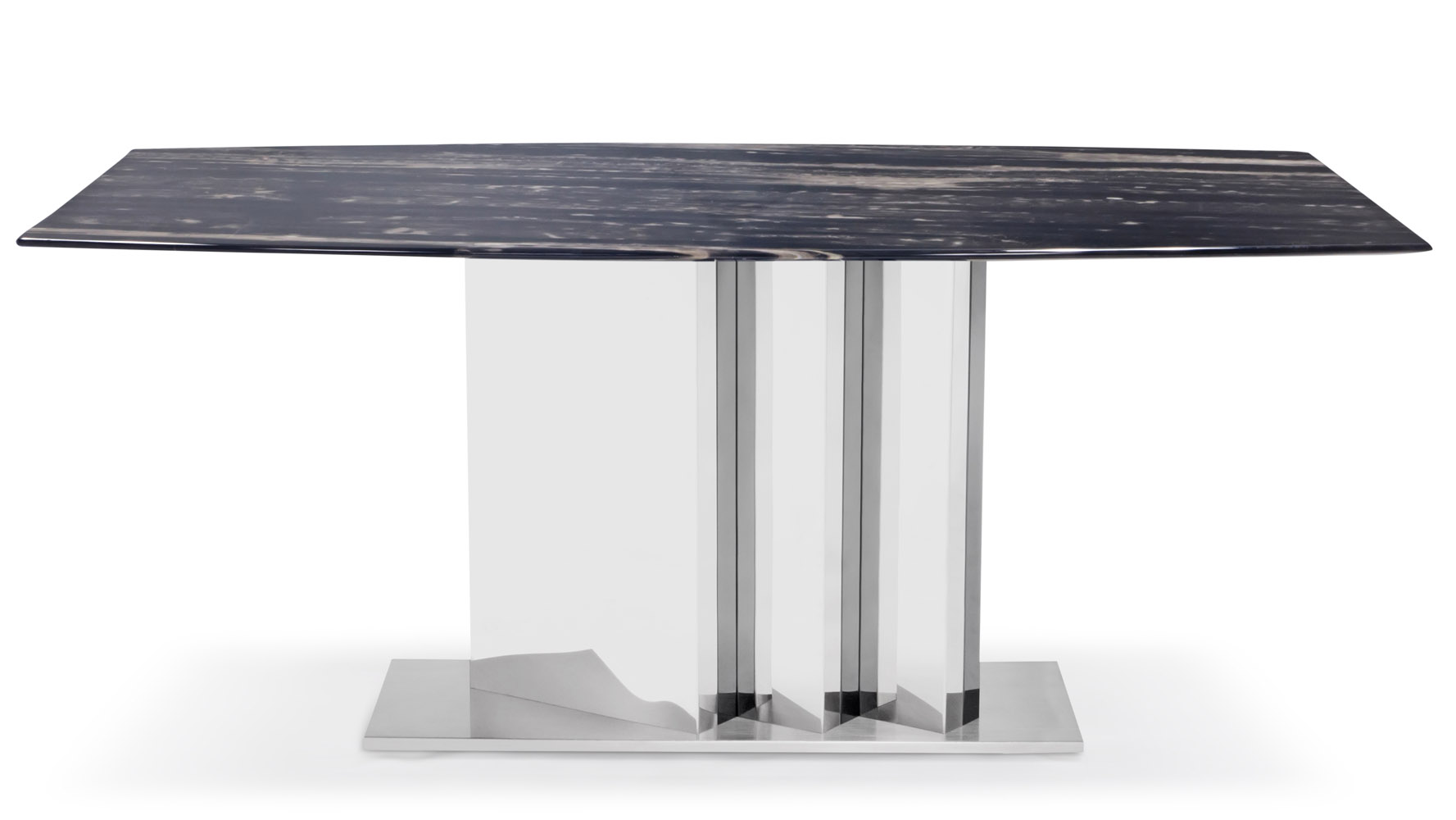 Nero Modern Dining Table With Black Marble Top And