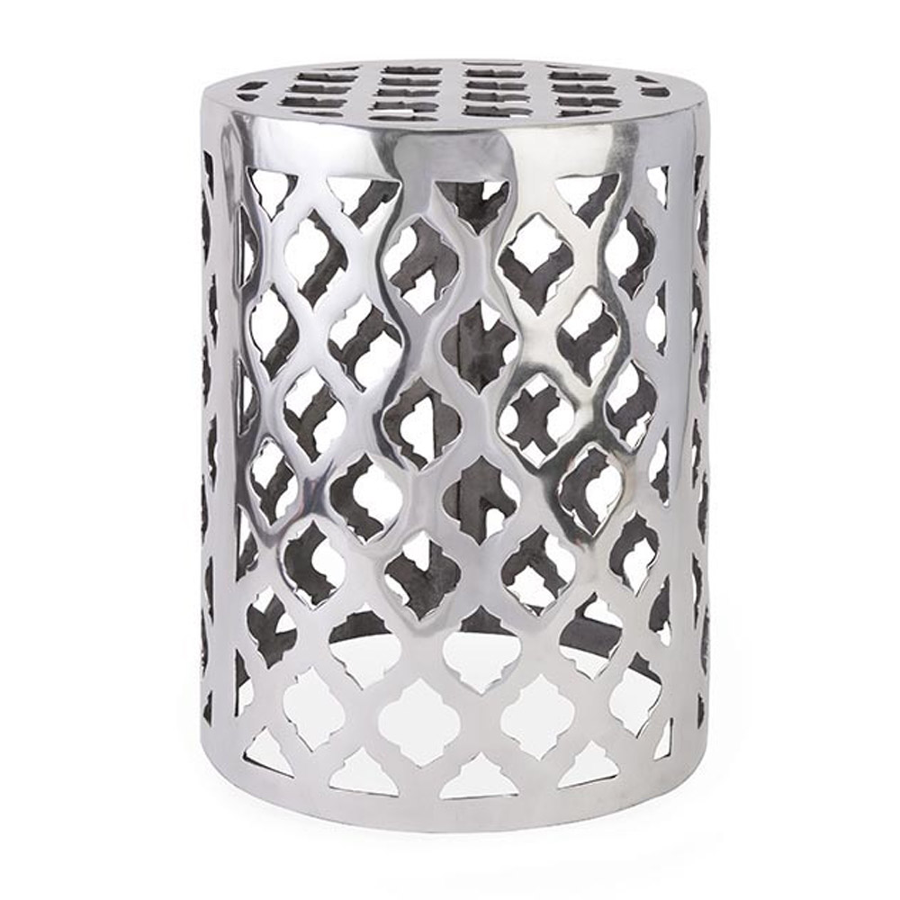 Nichole Aluminum Garden Stool Zuri Furniture