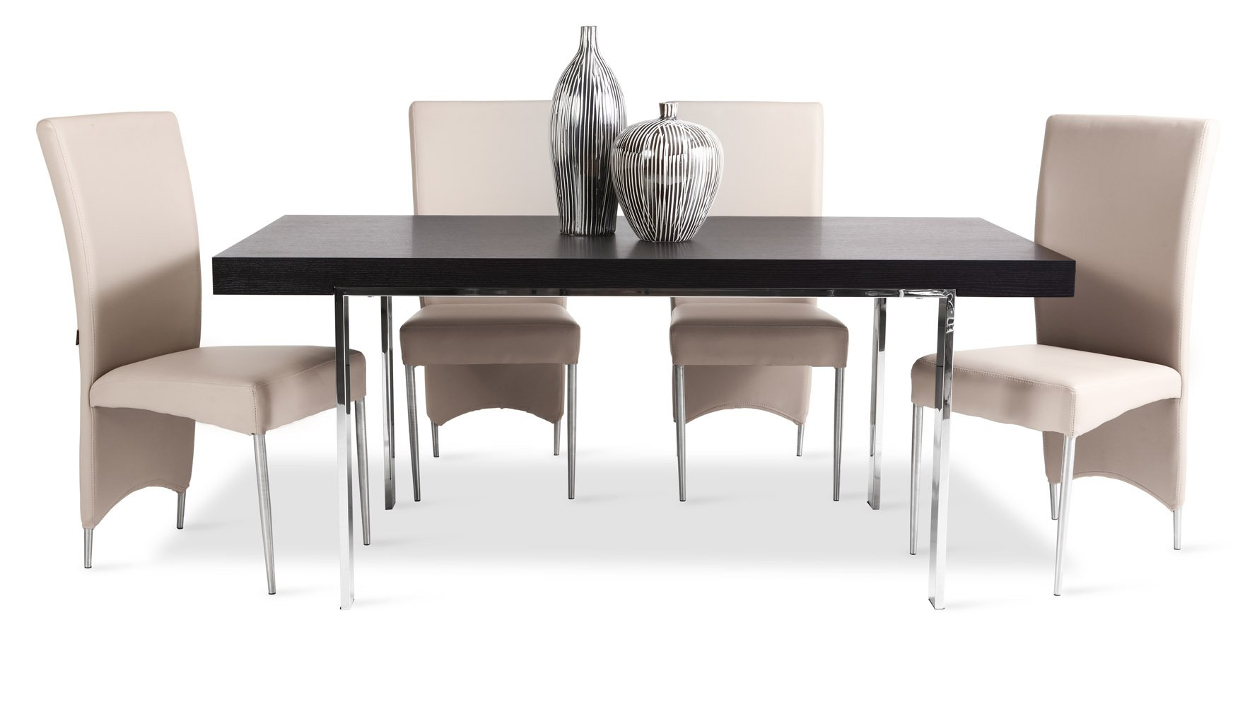 Norah Modern Espresso Wood Dining Table with Chrome Legs | Zuri ...