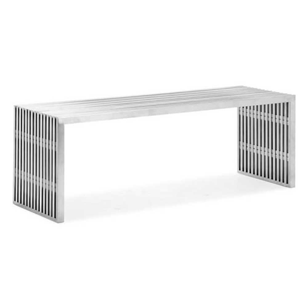 Novel Brushed Stainless Steel Bench Zuri Furniture
