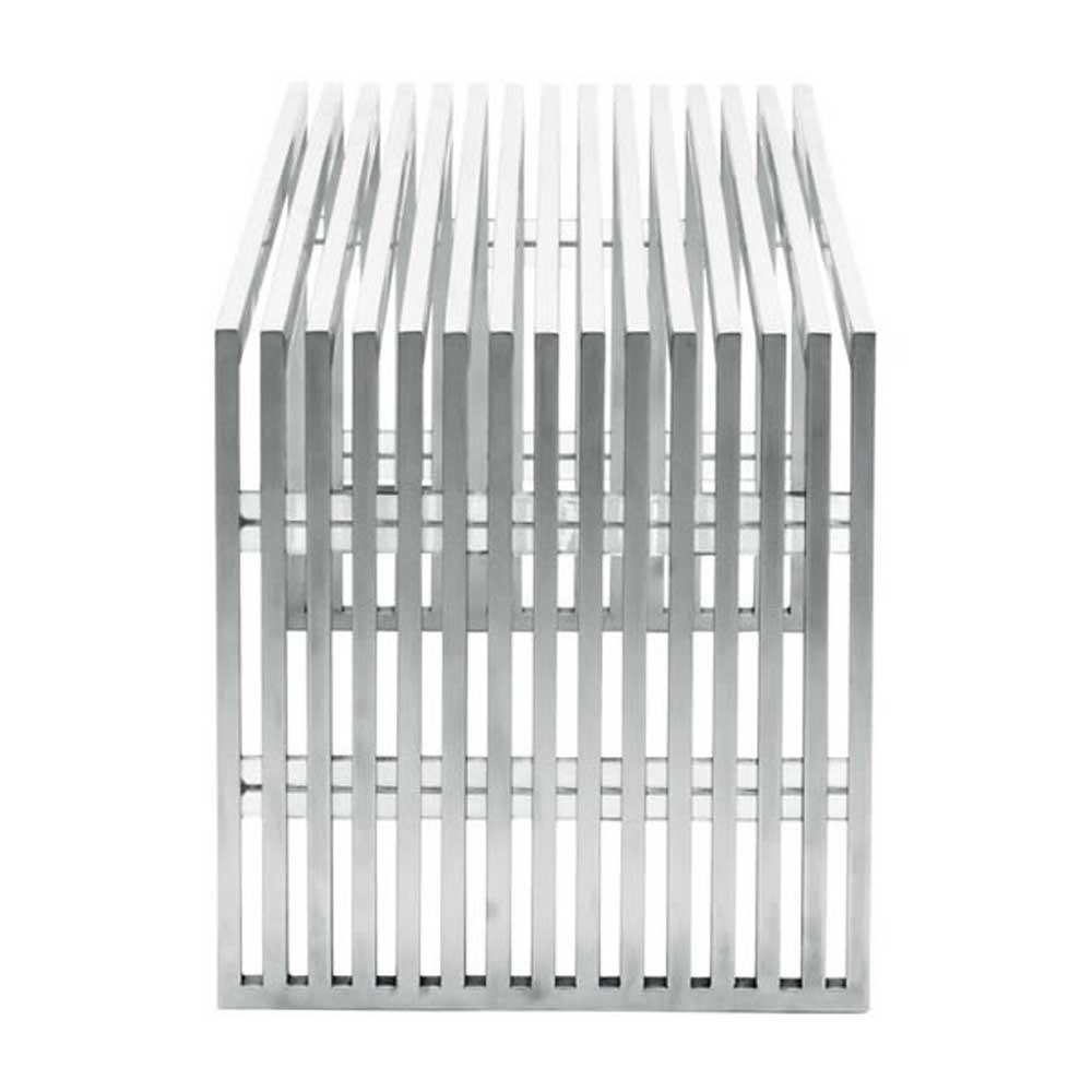 Novel Brushed Stainless Steel Bench Zuri Furniture