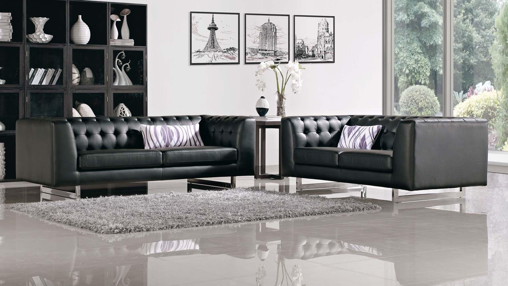 Omega contemporary leatherette sofa set zuri furniture for Outdoor furniture yangon
