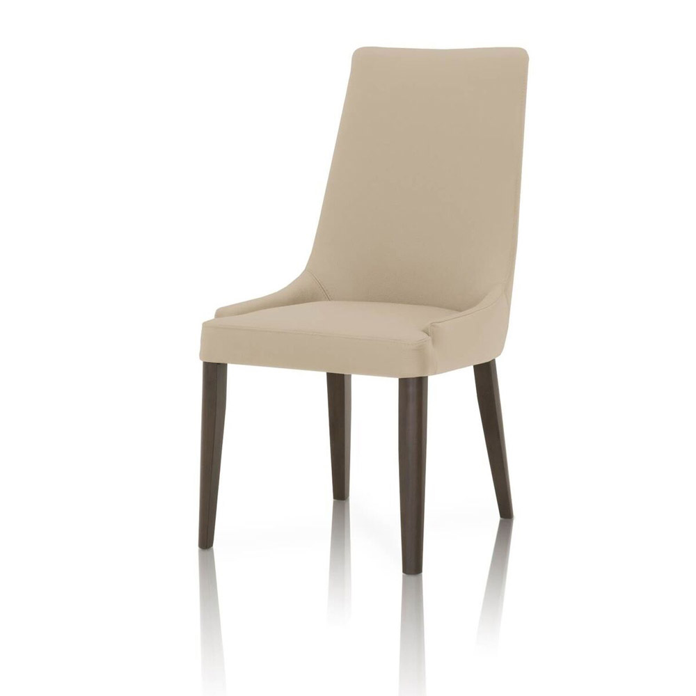 Padron Top Grain Leather Dining Chair Set Of 2 Flaxen