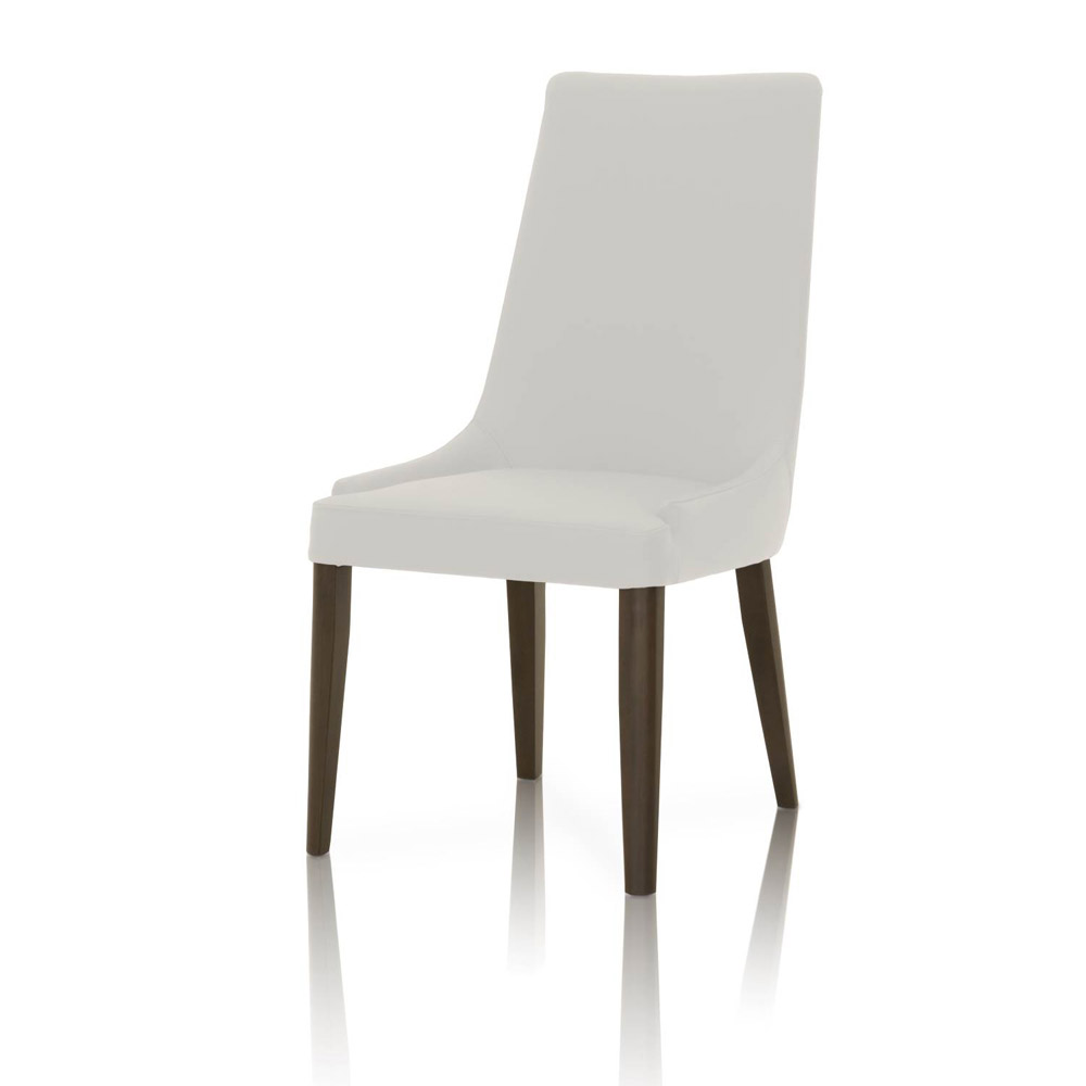 Padron Top Grain Leather Dining Chair   Set Of 2   White | Zuri Furniture