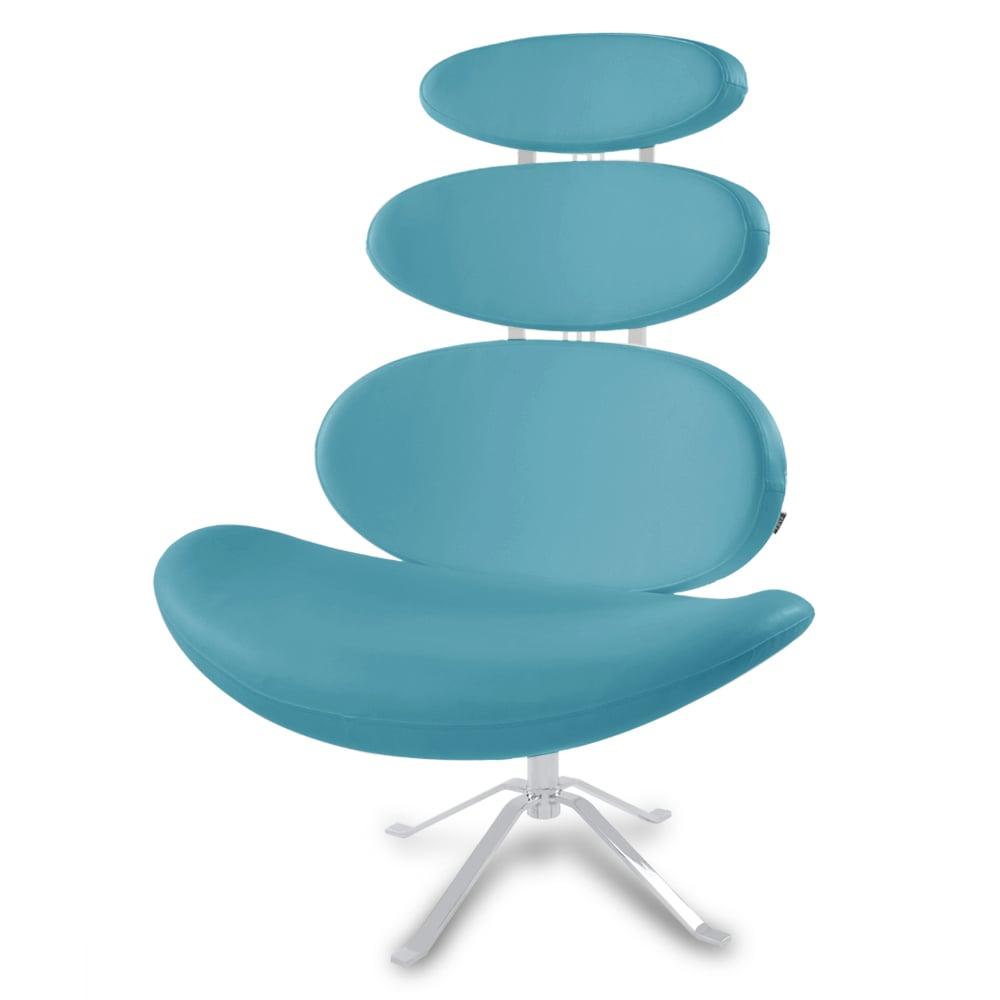 Pebble Modern Swivel Occasional Chair   Zuri Furniture