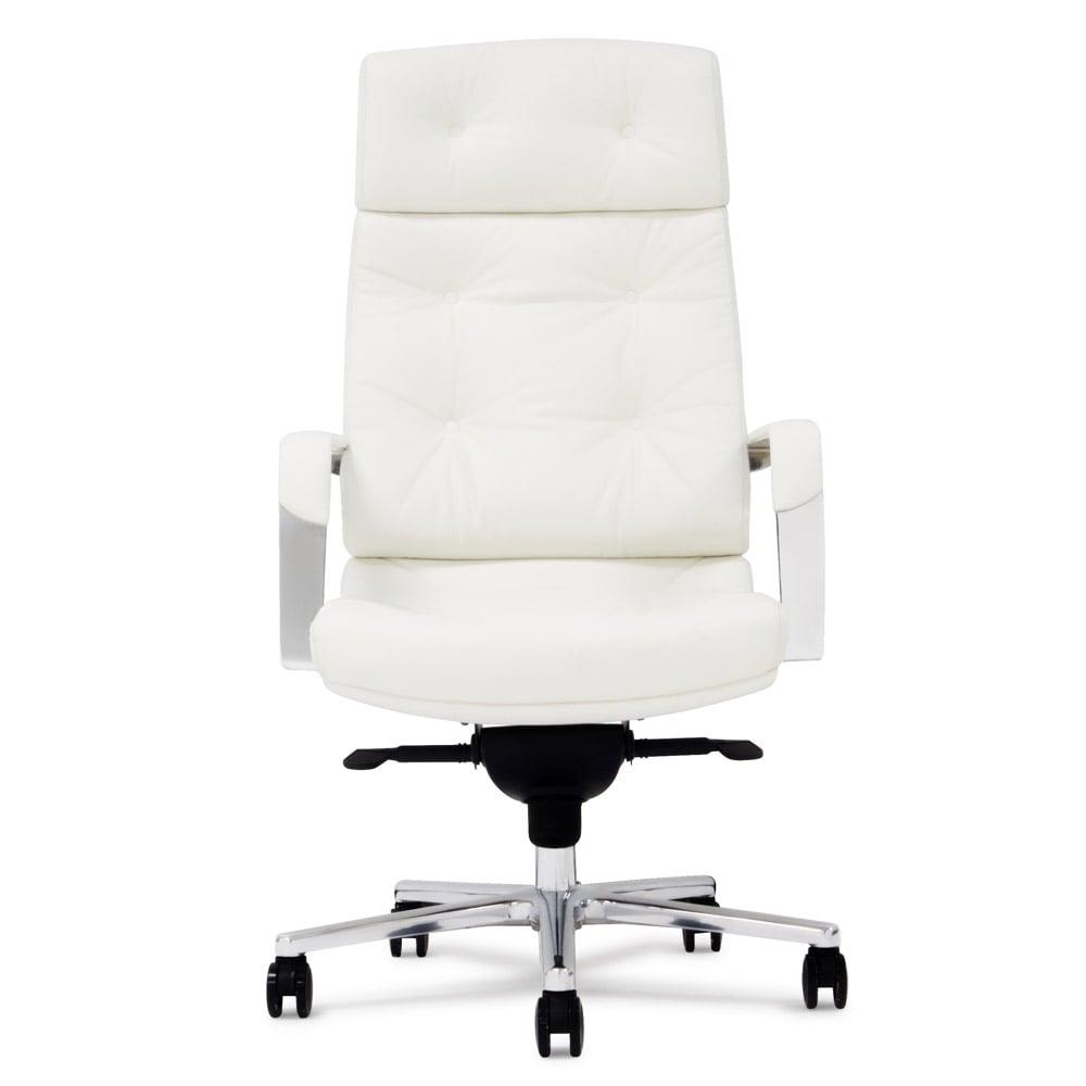 Perot Genuine Leather Aluminum Base High Back Executive Chair | Zuri  Furniture