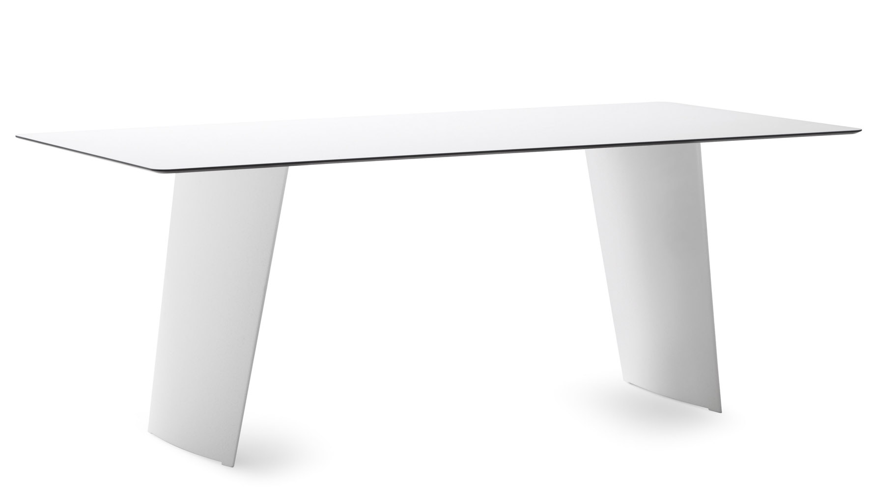 Petra High Gloss White Rectangular Dining Table Zuri Furniture - White rectangular outdoor dining table