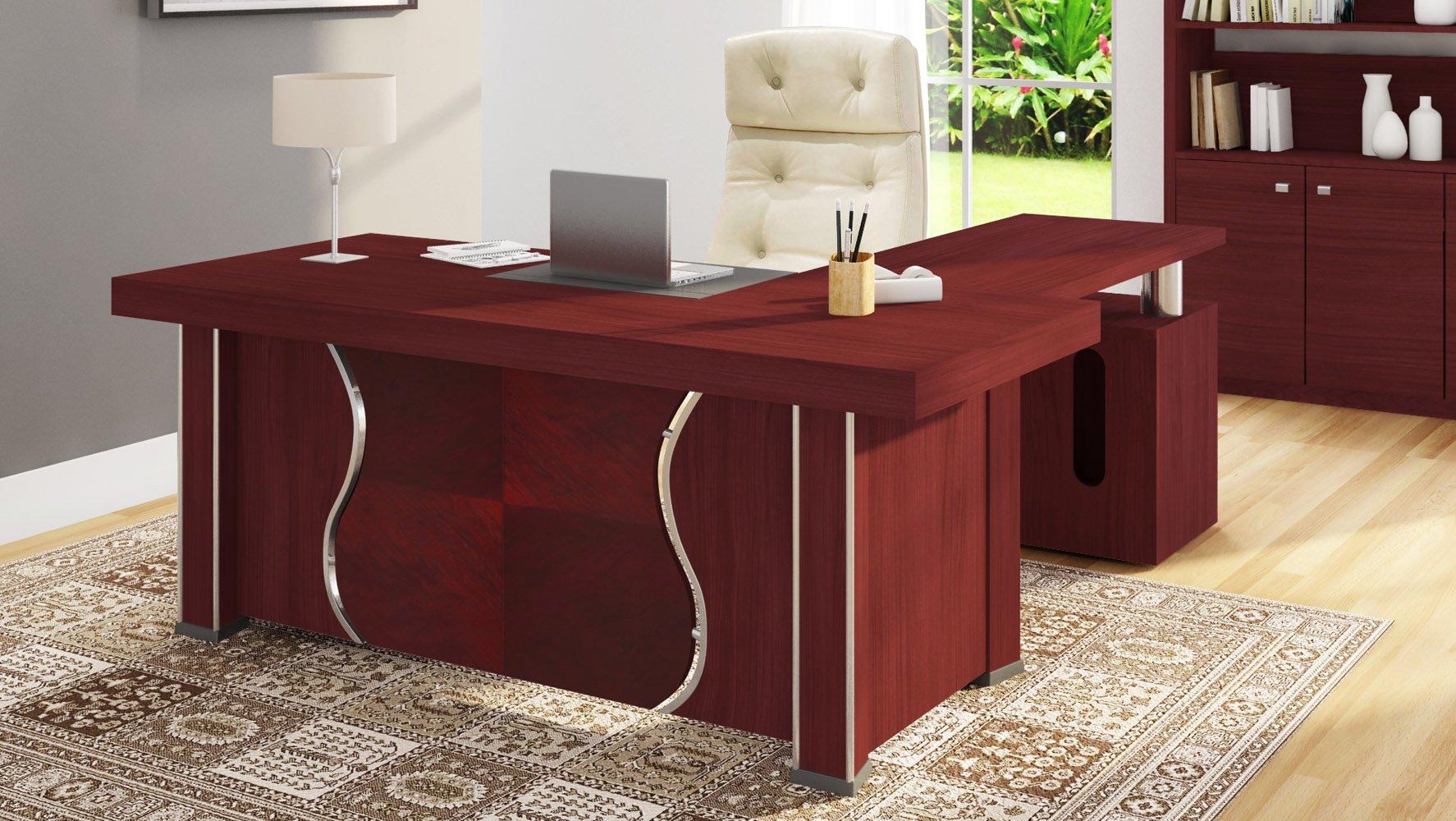 Bon Pierce Desk   Mahogany