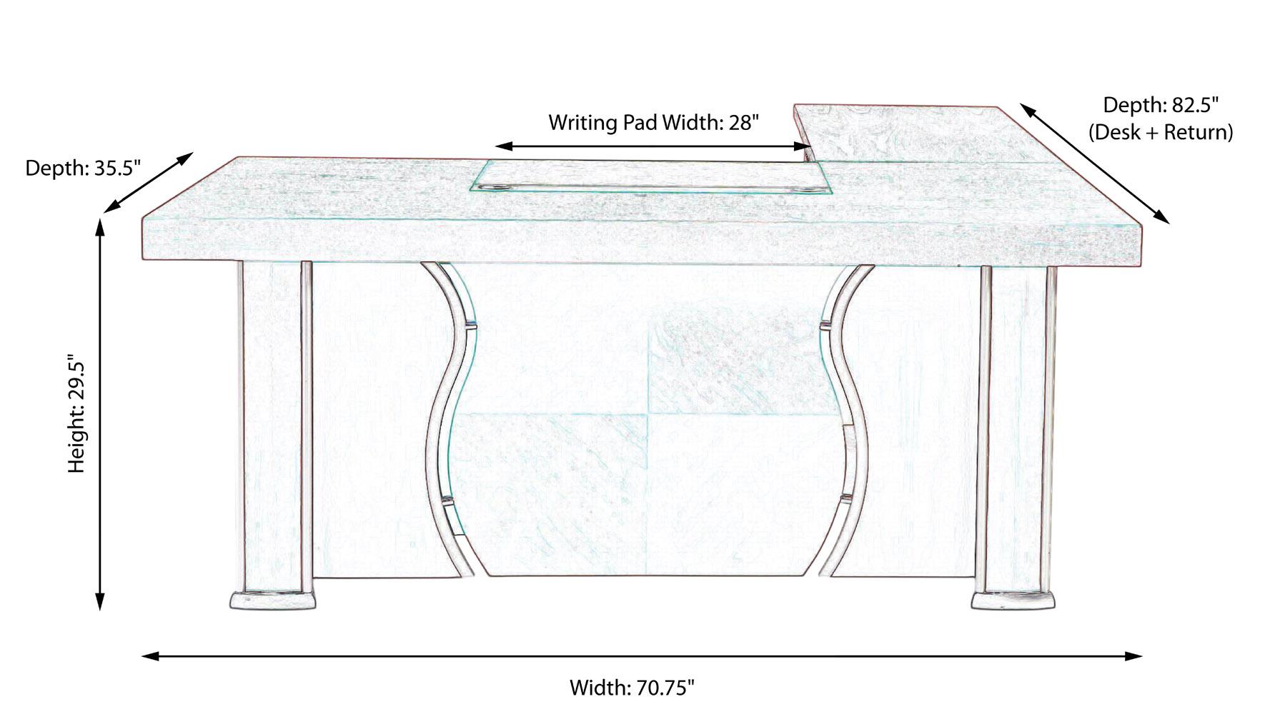 desk width