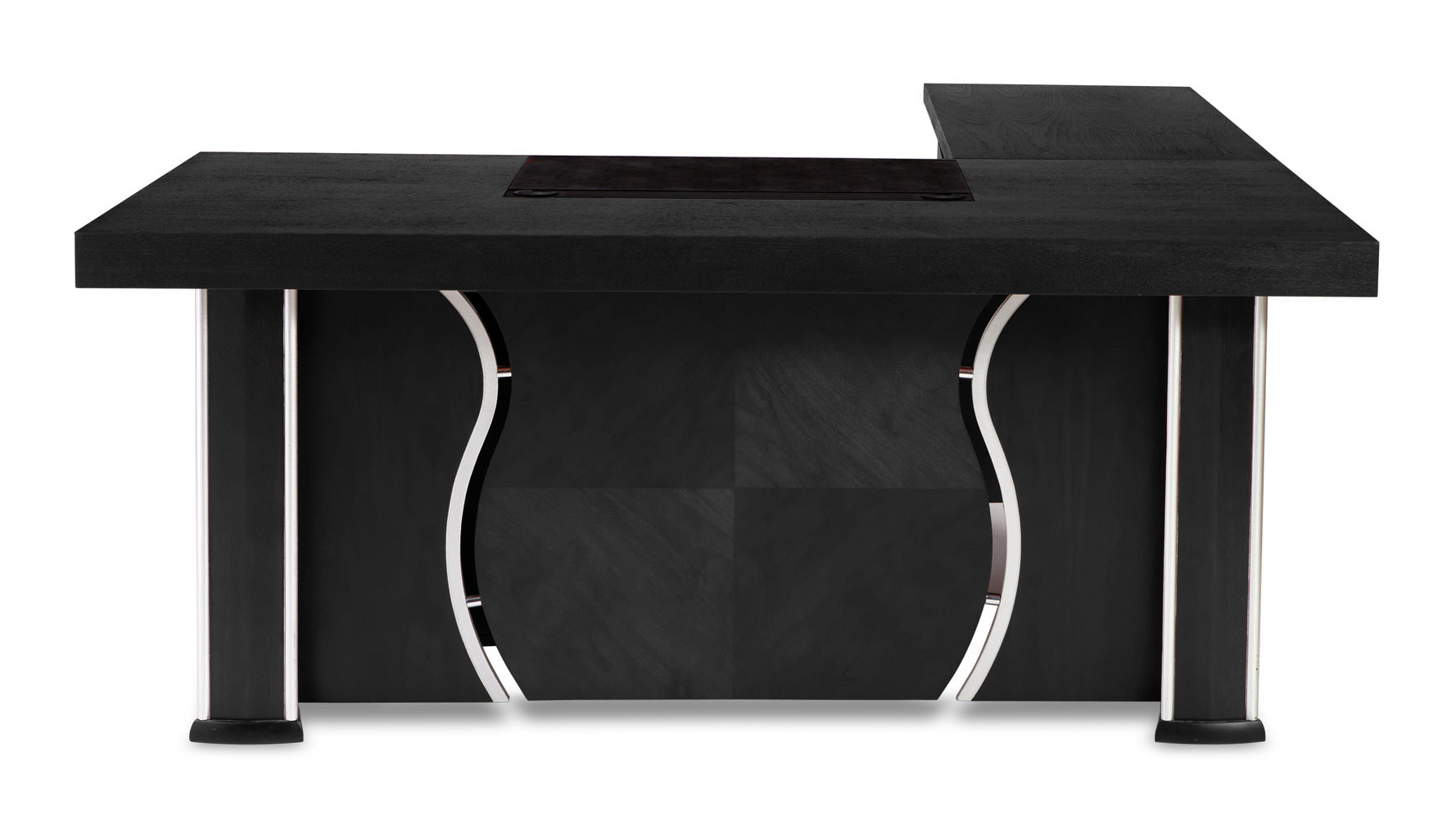 Modern Desk pierce black oak modern desk with storage | zuri furniture