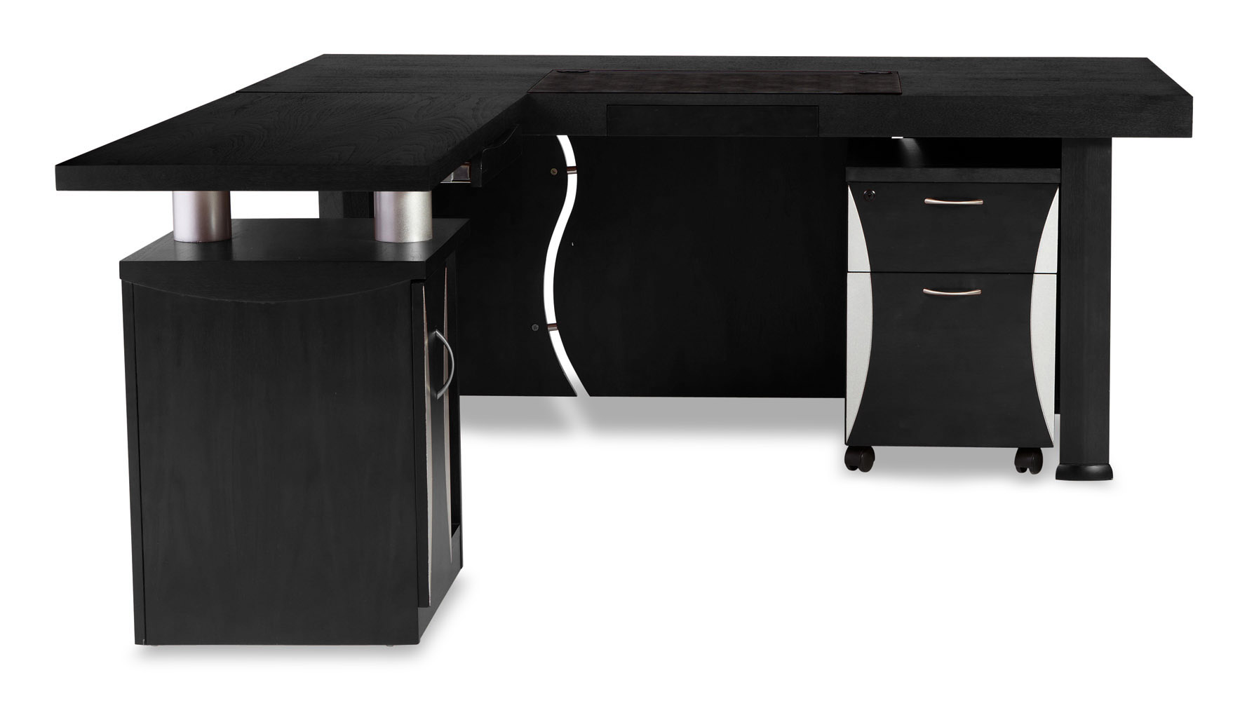 modern desk with storage wall mounted next pierce black oak modern desk with storage zuri furniture