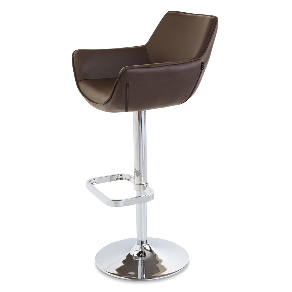 Pinot Bar Stool  sc 1 st  Zuri Furniture & Pinot Adjustable Height Swivel Armless Bar Stool | Zuri Furniture islam-shia.org