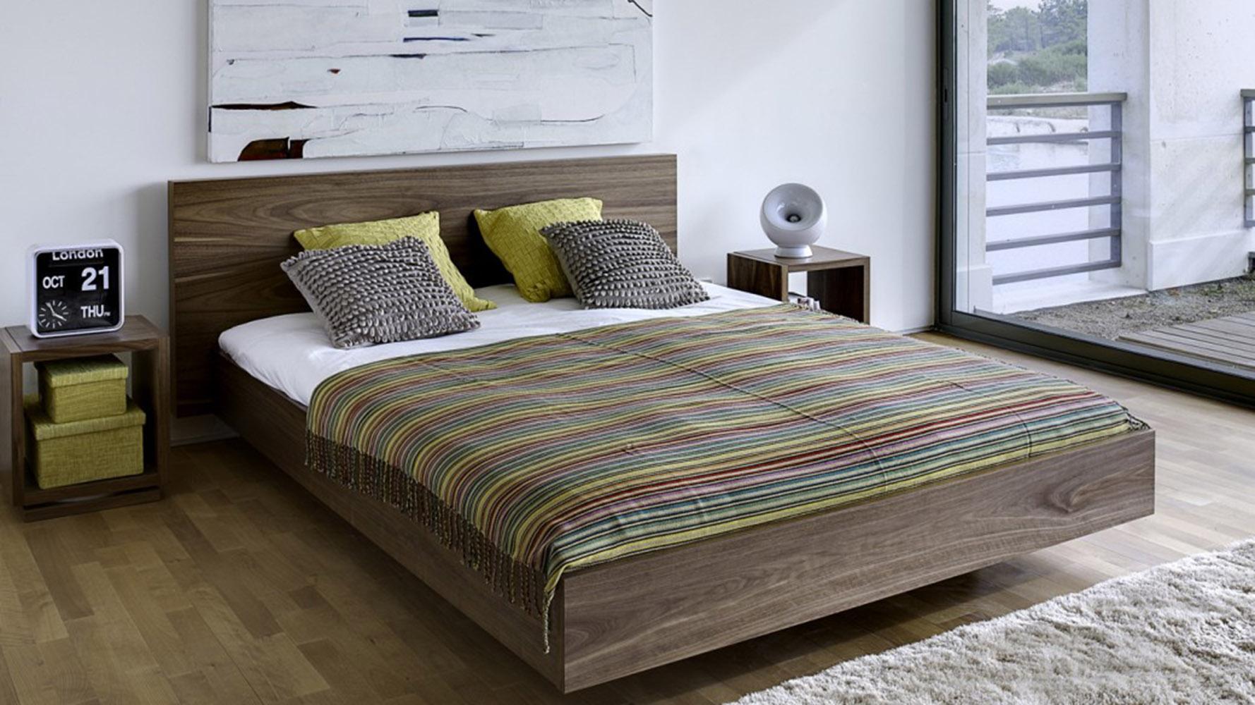 alexa bed walnut zuri furniture. Black Bedroom Furniture Sets. Home Design Ideas