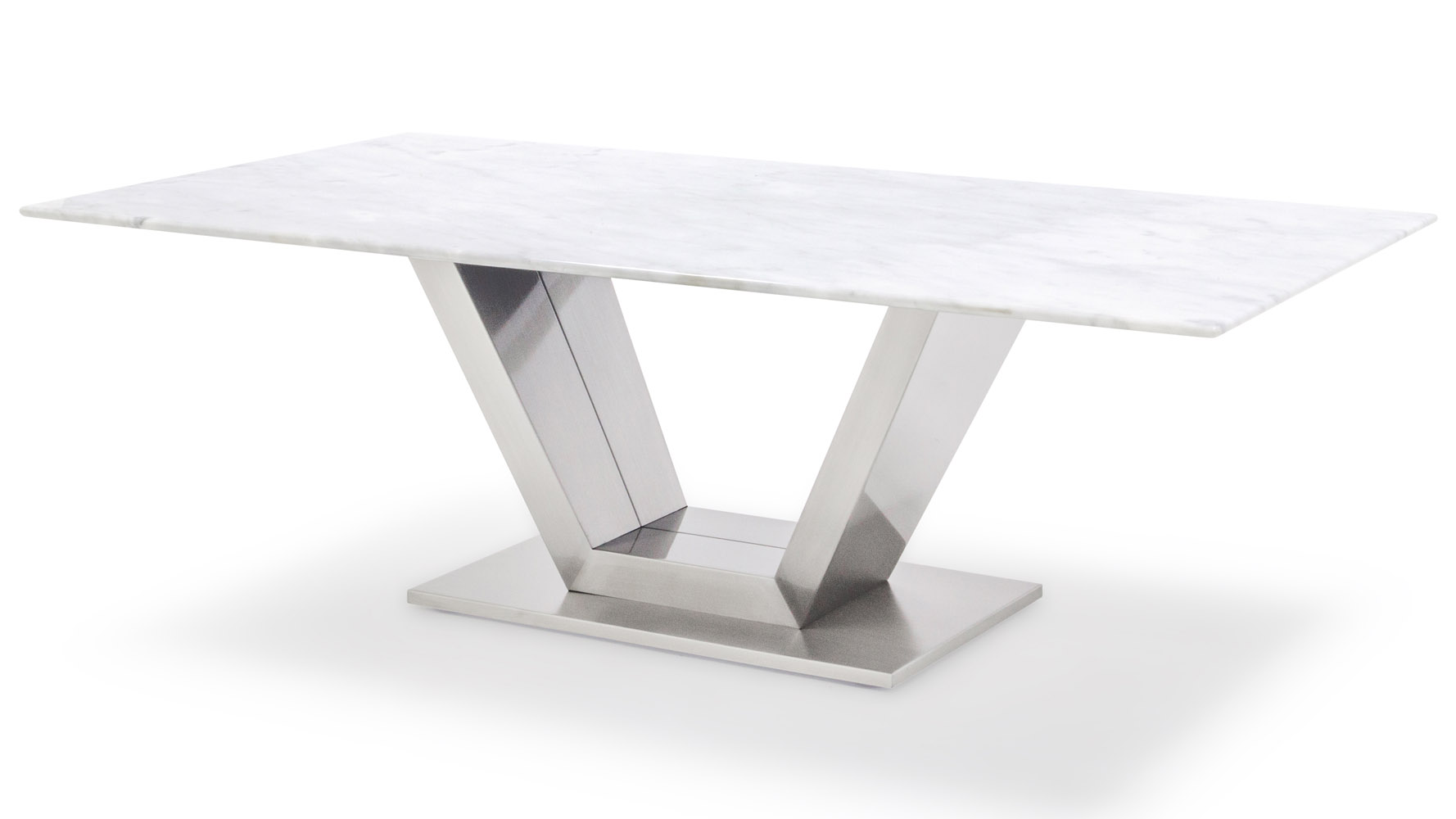 Modern Port Coffee Table Gray And White Mable Brushed